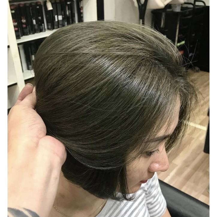 nhuộm tóc màu nâu rêu