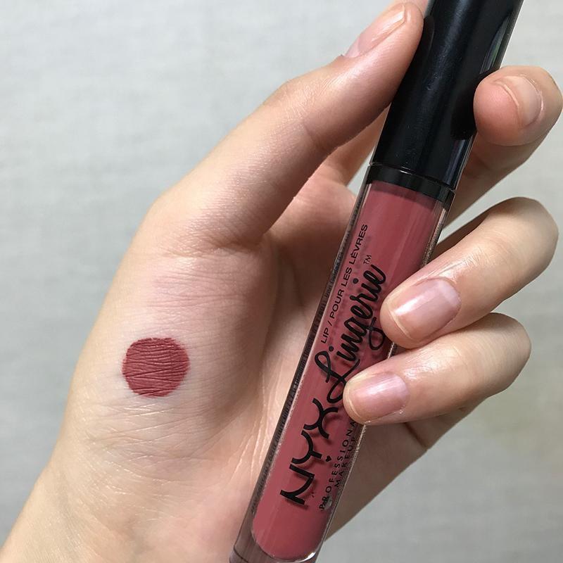 Màu son cho da ngăm NYX Lingerie Liquid Lipstick – Màu 12 Exotic (Tông hồng nâu trầm)