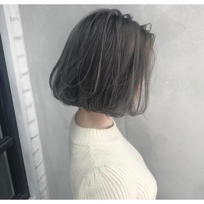 Tóc ngắn cúp đuôi nhuộm đen khói