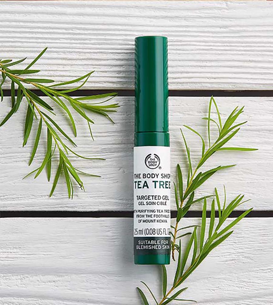 sử dụng kem trị thâm mụn The Body Shop Tea Tree Blemish Gel