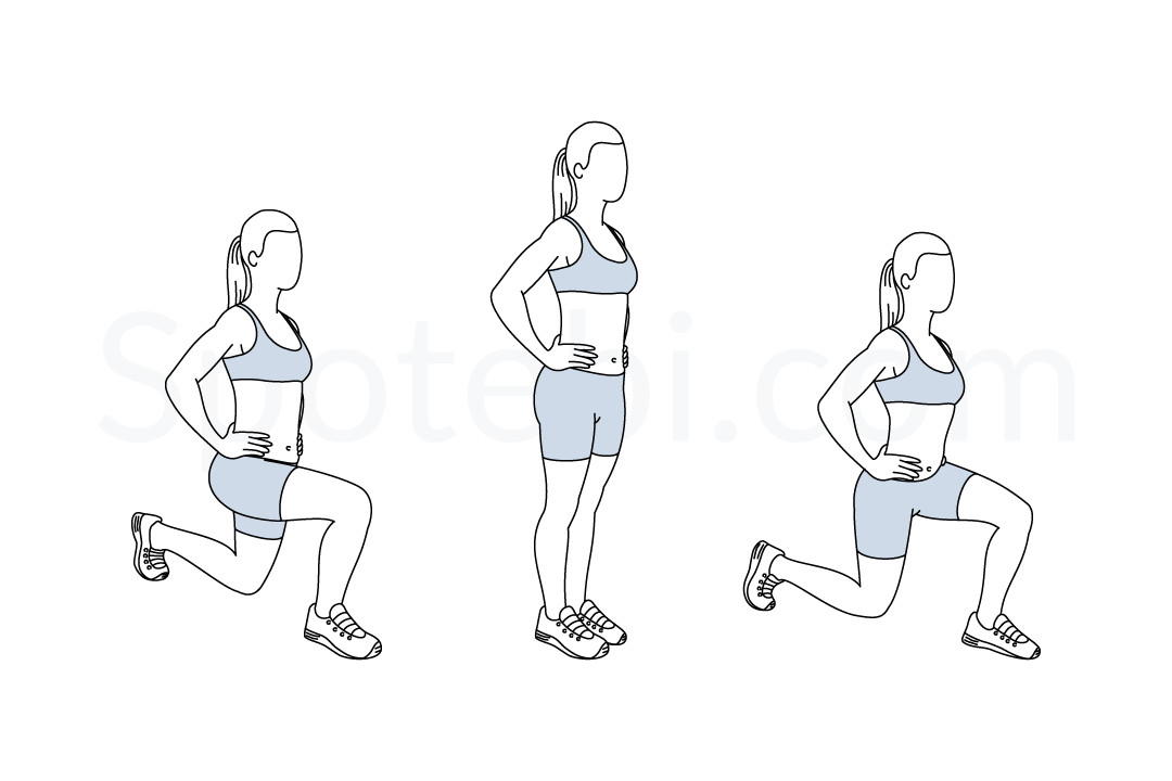thể dục giảm cân Front Back Lunges