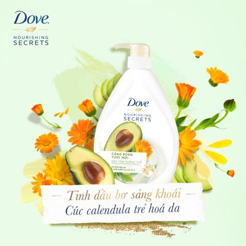 Muốn da luôn tươi mới sảng khoái thì đừng bỏ qua sữa tắm dưỡng thể Dove Căng Bóng Tươi Mới nhé!