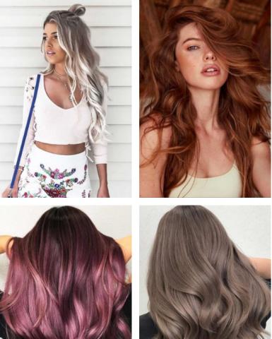 Các kiểu tóc dài đẹp nhuộm màu
