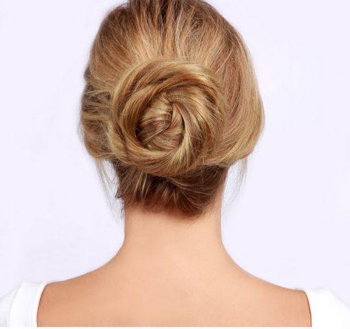 Kiểu tóc nữ đẹp - búi xoắn thanh lịch