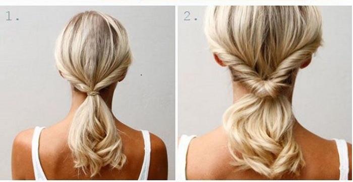 các kiểu buộc tóc dài thẳng