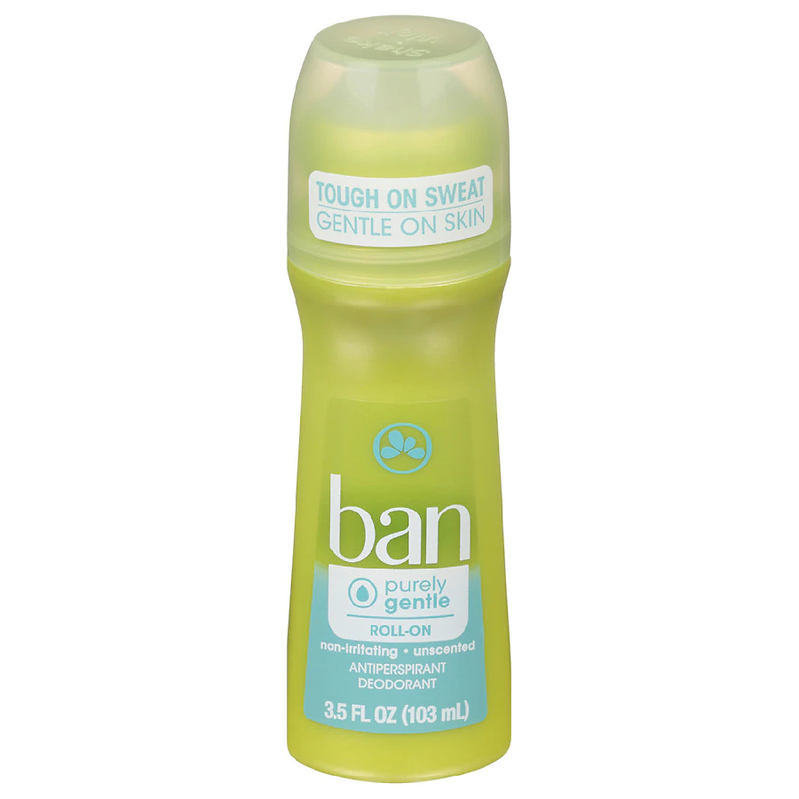 khử mùi cơ thể Ban Purely Gentle Roll-On Antiperspirant Deodorant