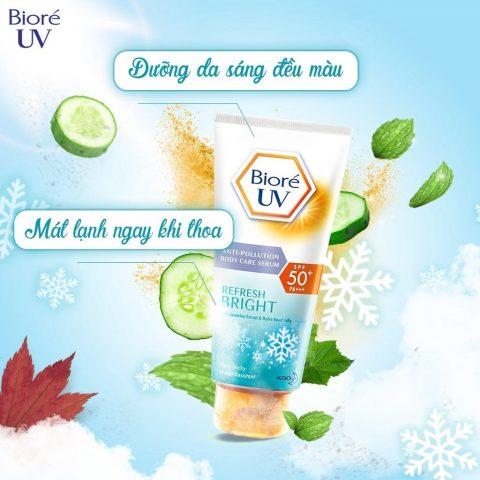 Kem dưỡng thể chống nắng body Biore UV Extra Moist Anti-Pollution Body Care Serum