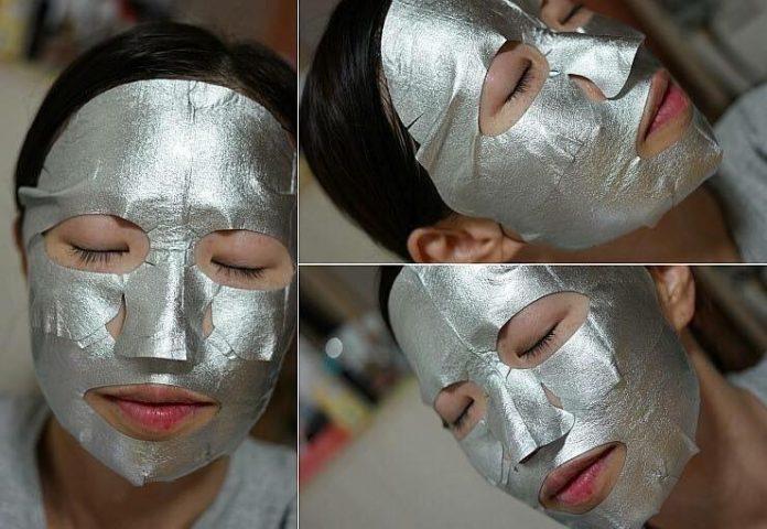 Đắp mặt nạ giấy Mặt nạ giấy bạc