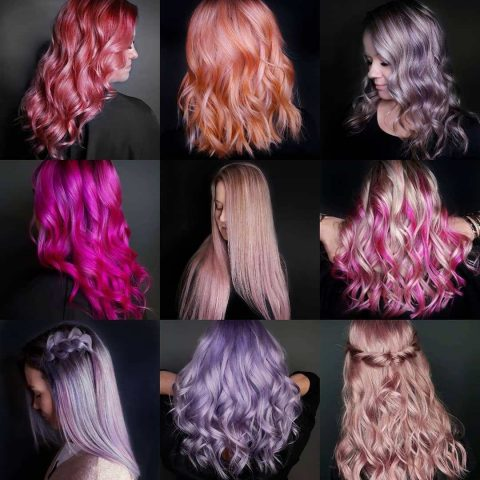 Bảng màu màu nhuộm tóc đa sắc