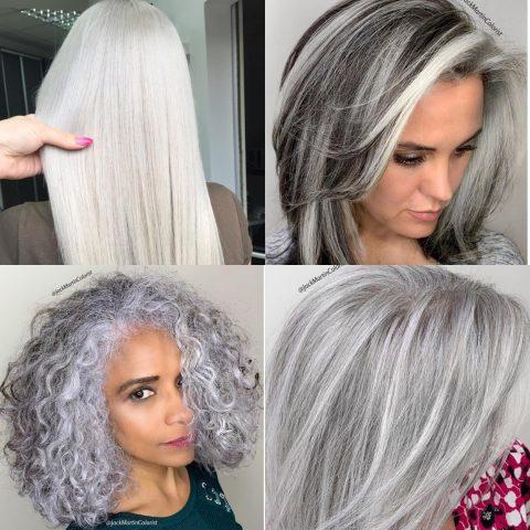 Bảng màu nhuộm tóc xám