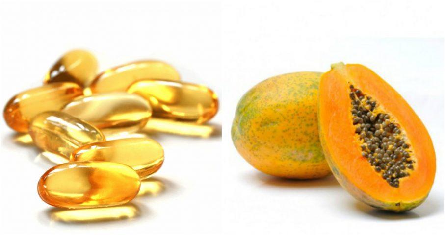 mặt nạ đu đủ và vitamin e