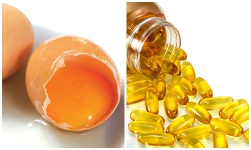 mặt nạ trứng và vitamin e