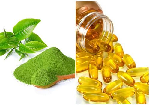 mặt nạ trà xanh và vitamin e