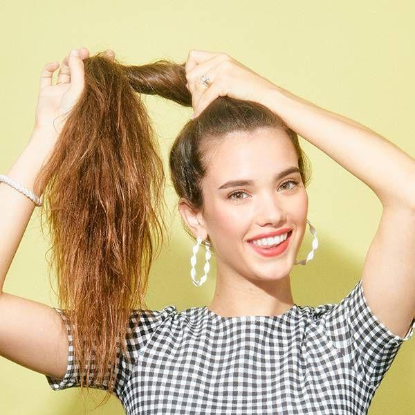 Không thắt bím khi tóc yếu