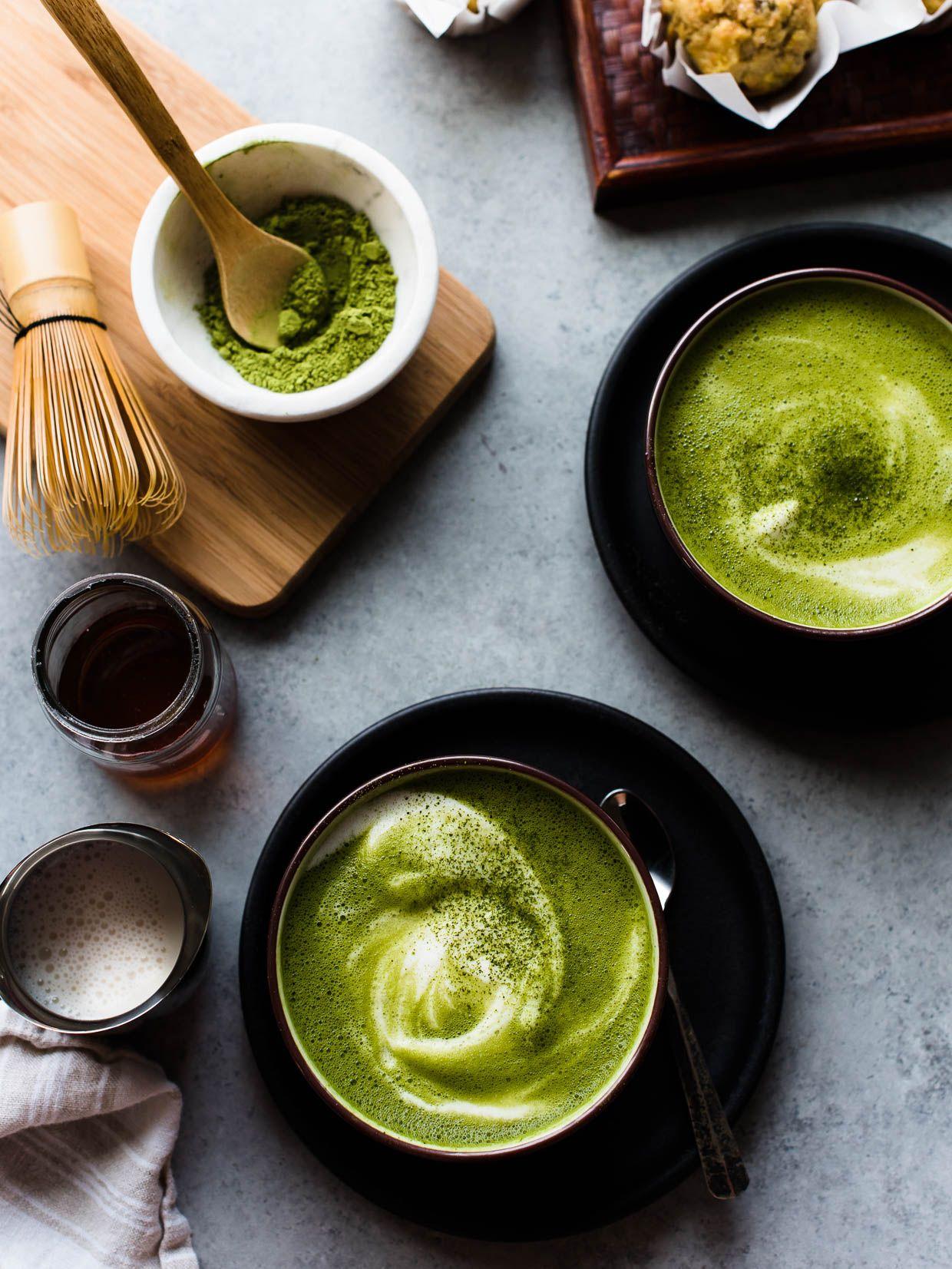 Trà giảm mỡ bụng - trà xanh và chanh