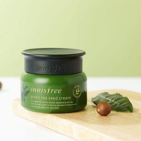 Kem dưỡng ẩm cho da dầu mụn Innisfree Green Tea Moisture Cream