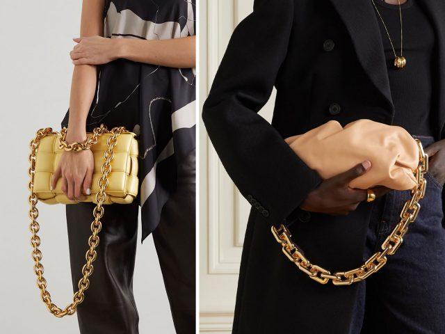Túi quai đeo xích bản to – Xu hướng túi xách lên ngôi năm 2021