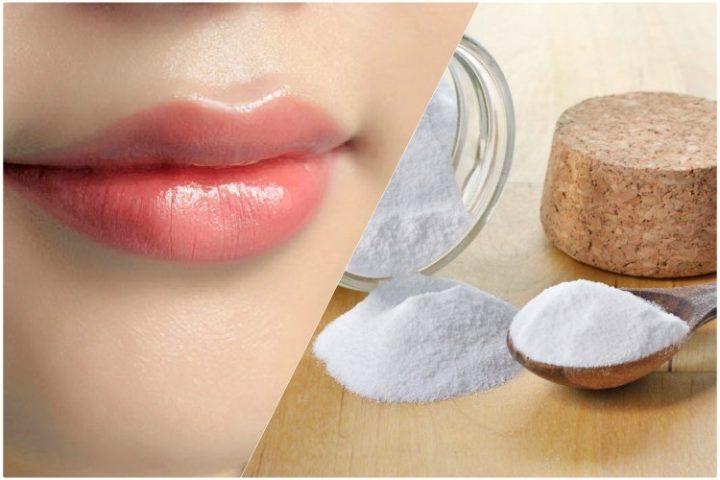 cách trị thâm môi tại nhà bằng baking soda