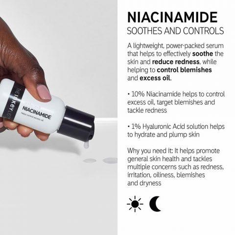 Serum dịu da trị mụn cho da dầu The Inkey List Niacinamide