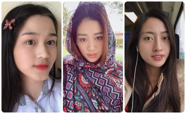 Đặt lên bàn cân nhan sắc mặt mộc của các nàng Hoa Hậu Việt