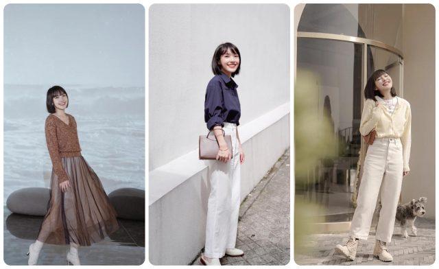 Cô nàng blogger xứ Trung thị phạm 5 bí kíp Phối Đồ Cho Nấm Lùn