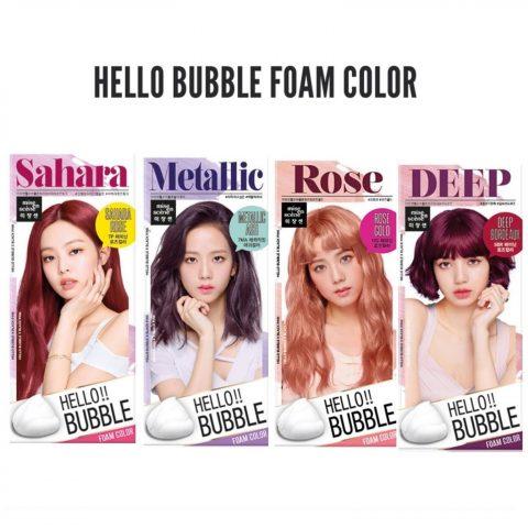 Cách nhuộm tóc tại nhà đơn giản với bọt nhuộm tóc BlackPink Hello Bubble