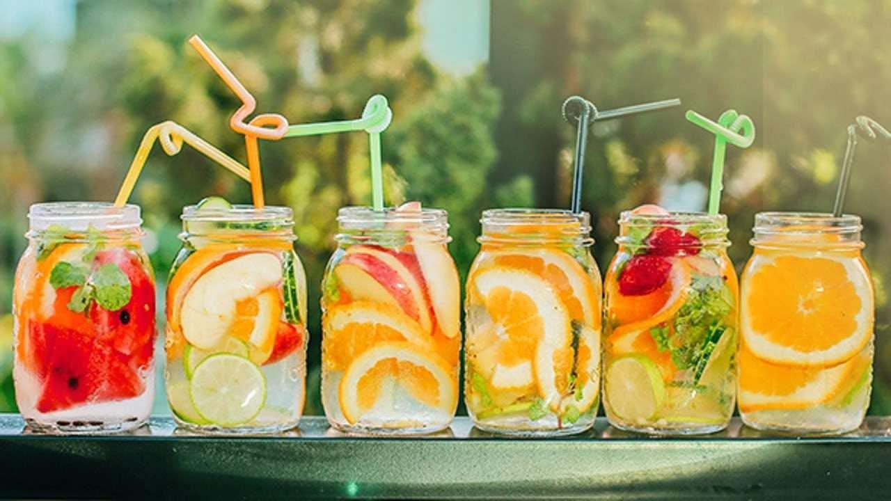 Cung cấp vitamin bằng nước Detox