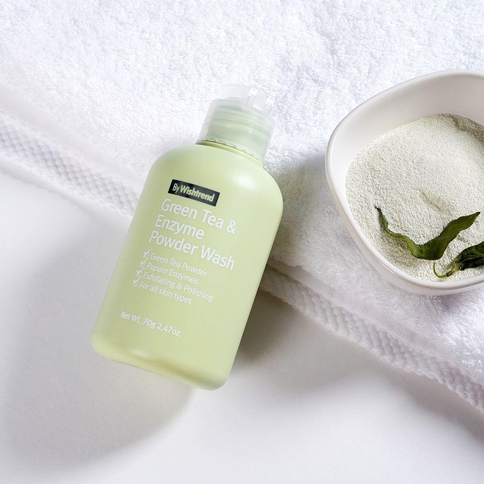tác dụng của trà xanh trong bột rửa mặt