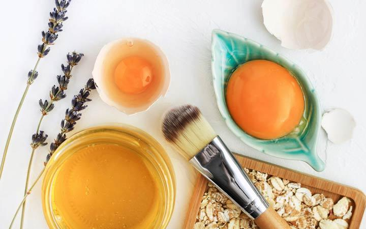 cách làm mặt nạ tóc từ chanh + trứng + glycerin