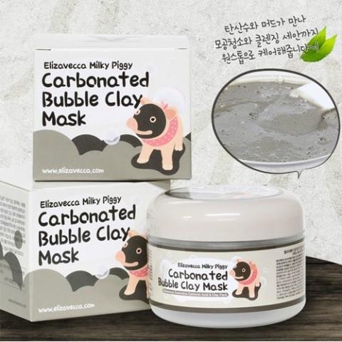 mặt nạ sủi bọt thải độc Elizavecca Milky Piggy Carbonated Bubble Clay Mask