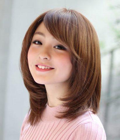 Tóc ngắn layer Nhật Bản