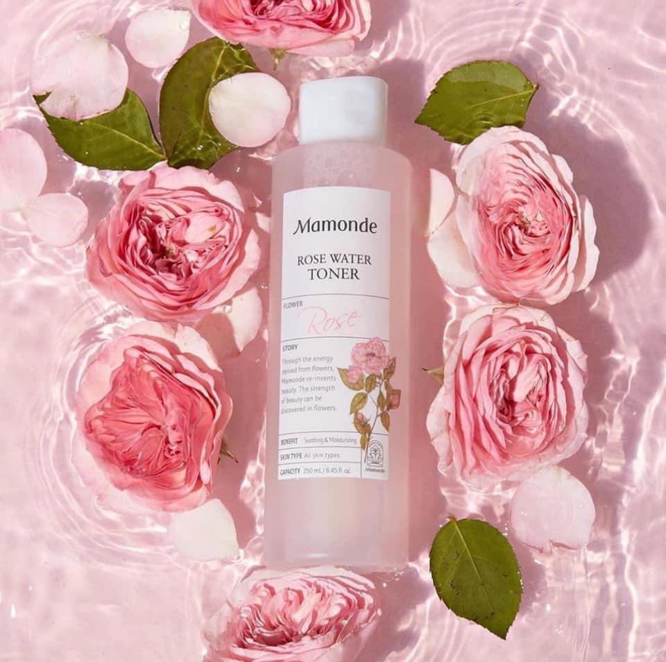 sản phẩm chăm sóc da Mamonde Rose Water Toner