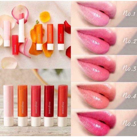 Son dưỡng môi có màu Innisfree Eco Flower Tint Lip Balm Hàn Quốc