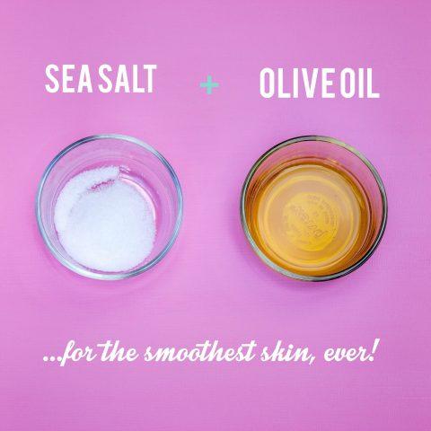 Cách tẩy tế bào chết cho body bằng muối và dầu oliu