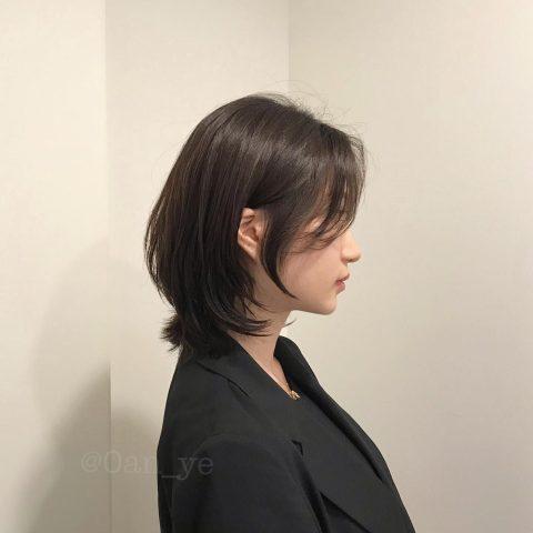Tóc layer nữ Hàn Quốc cho mặt tròn