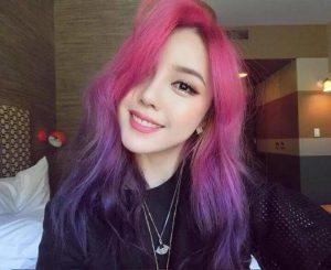 Tóc Ombre tím hồng
