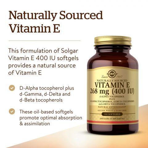 Viên uống Solgar Vitamin E 400 IU