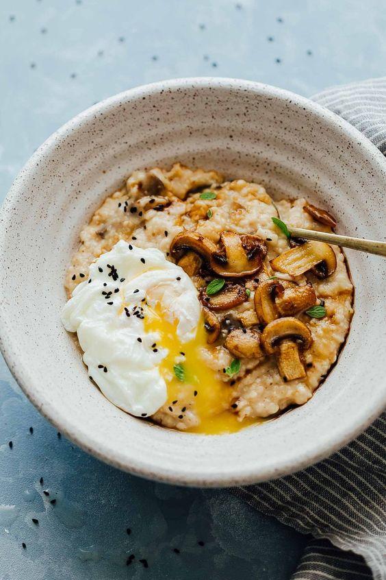 cách ăn yến mạch giảm cân với trứng gà