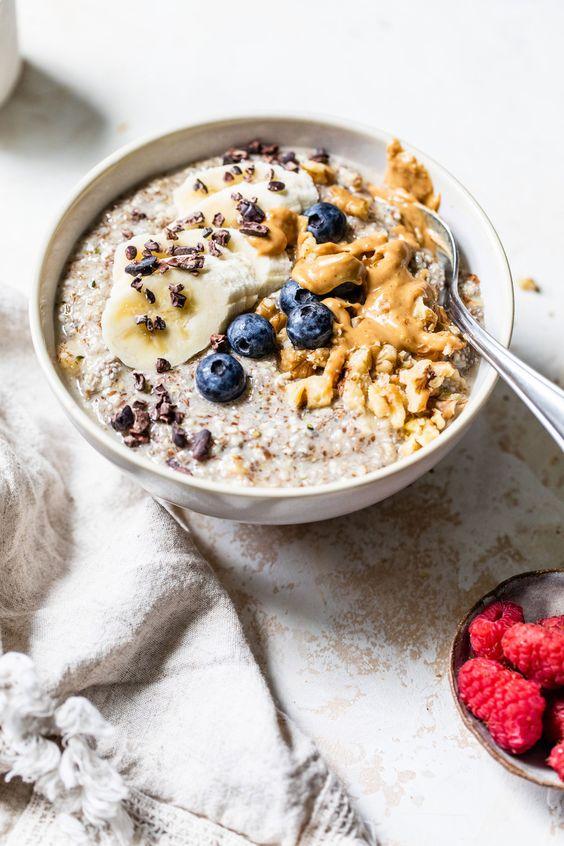 cách ăn yến mạch giảm cân với sữa tươi