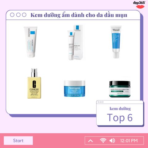 Top 6 kem dưỡng ẩm cho da dầu mụn: giảm kích ứng, giảm mụn