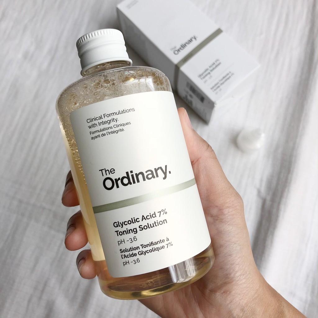 toner dành cho da dầu mụn The Ordinary Glycolic Acid 7% Toning Solution