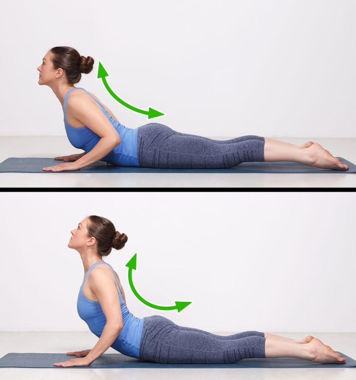 cách trị đau cổ từ tư thế rắn hổ mang