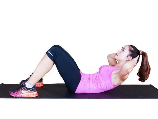 Bài tập Aerobic giảm mỡ bụng đơn giản tại nhà - Bài 1: Gập bụng
