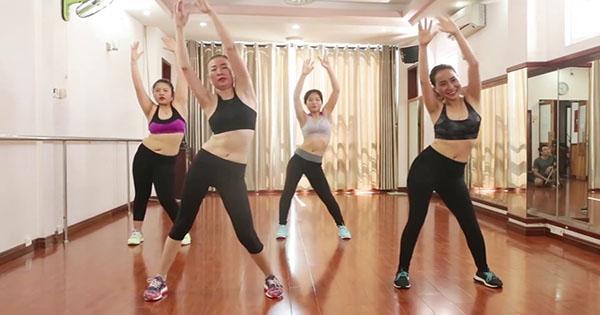 Bài tập Aerobic giảm mỡ bụng đơn giản tại nhà - Bài 2: Lắc hông