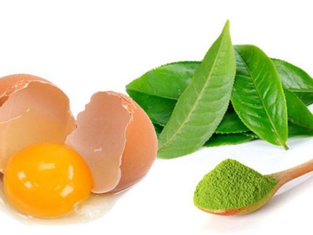 Cách làm trắng da tay và chân bằng bột trà xanh và trứng gà