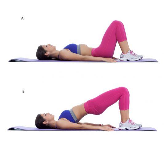 Bài thể dục nâng hông giúp làm nhỏ bụng cho nữ
