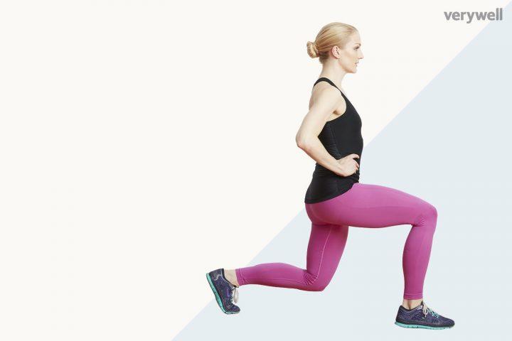cách giảm cân nhanh tại nhà cho nữ - bài tập Lunges