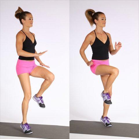 cách giảm cân nhanh tại nhà cho nữ - bài tập High Knees