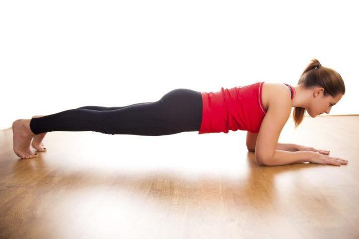 cách giảm cân nhanh tại nhà cho nữ - bài tập Plank cơ bản