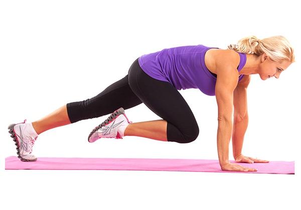 cách giảm cân nhanh tại nhà cho nữ - bài tập Mountain Climbers